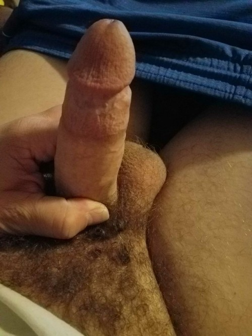 Dick after getting rock hard watching cuckold porn