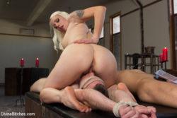 Blonde domina facesitting tied up bdsm slave
