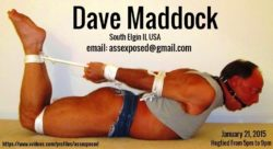 Dave Maddock of South Elgin IL Hogtied and Exposed