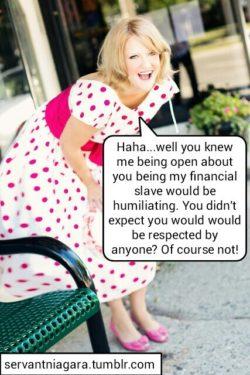 Financial Domination Public Humiliation
