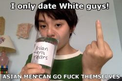 Asian women are slowly dating white men exclusively