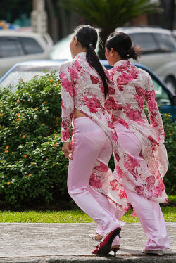 Feminine Asian panty lines
