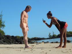 CFNM beach smal dick photo