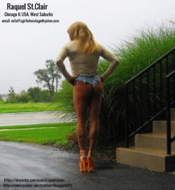 Raquel St.Clair Outdoors on a Rainy Day