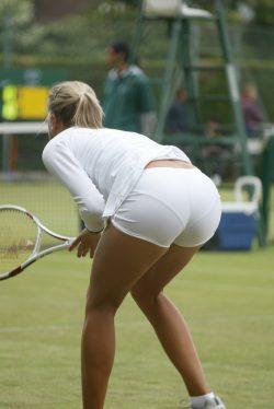 Blonde tennis player VPL