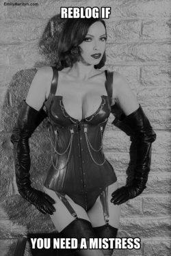 Who else needs a mistress?