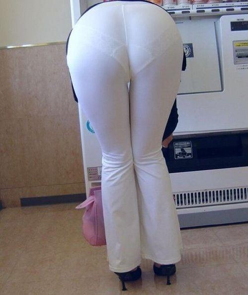 White Pants with White Lace Pantylines