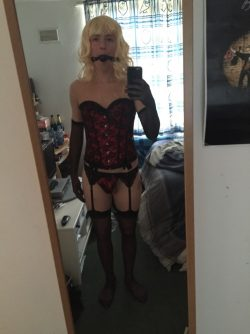 Effeminate beta male turned sissy bdsm slave and cock craving hussy