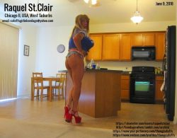 Tanned Blonde Raquel in Way Too Short Daisy Dukes and Slutty Heelz