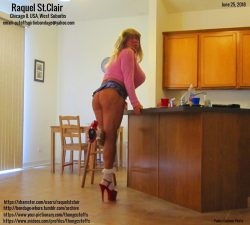 Tanned Blonde Raquel in a Microskirt