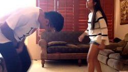 Chick Starts Kung Fu Kicking Dudes Balls