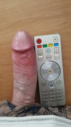 Little Stiff Dick Does the Remote Control Challenge