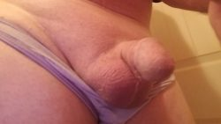 Not really even worthy of panties. Totally worthy of a cock cage…