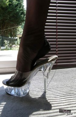 Clear High Heel Worship POV