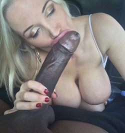Sucking a long fat and Sexy black maybe cock