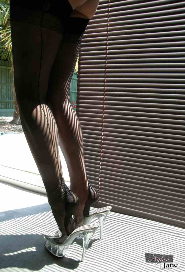 Fetish for Stockings and Clear High Heels