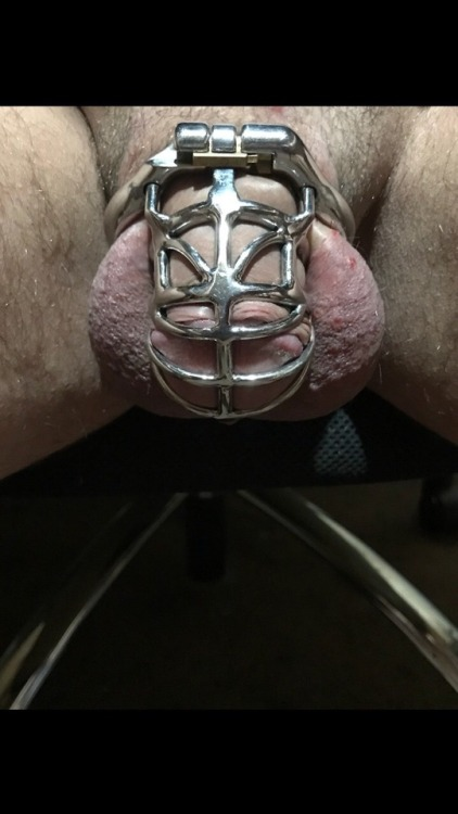 When your chastity cage fits almost too good