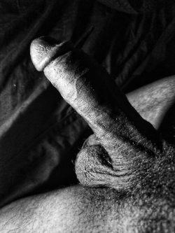 7 inches hard, my average black cock.