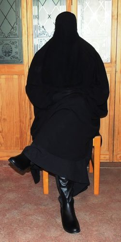 Male Muslimah Waiting Patiently