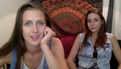 Tiny dicks laughed at on webcam by two princesses