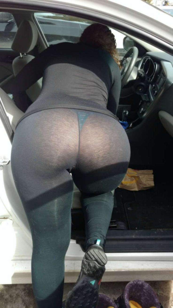 Visit the Car Wash for Leggings with Visible Thong Lines