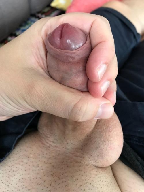 My tiny hard cock.