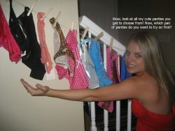 Look at all these panties hanging up for you