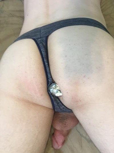 Plugged like a proper pussy boi