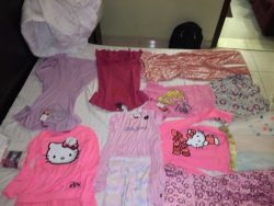Some of my girl clothes I like to wear around the house