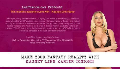 Kagney Linn Karter Webcam Live on ImaFemdom.com