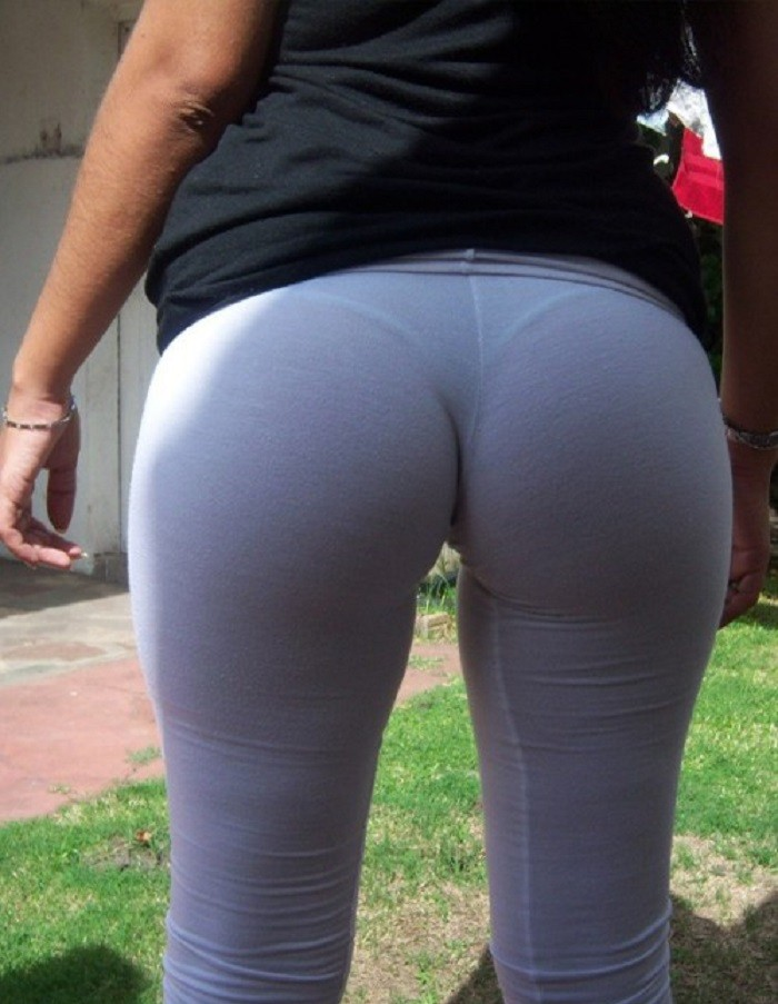 Someone's Slut Wife Walking Around with a Wedgie and VTLs