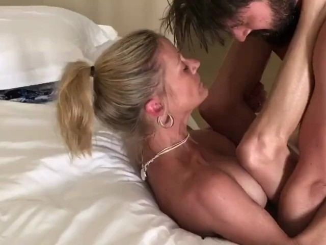 Blonde Hotwife Passionately Fucked and Creampied