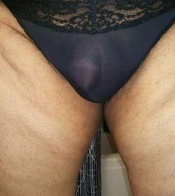 Don't I look cute with my new panties?