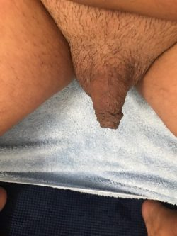 Hello! My hubby has a small clit penis due to long term…