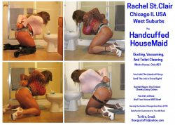 The Slutty Handcuffed House Maid Cleaning Toilets