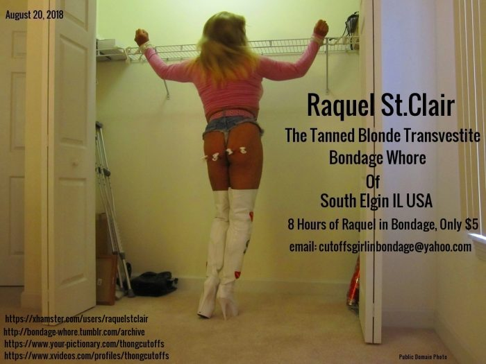 Raquel St.Clair the Tanned Blonde Bondage Whore