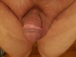 Small cock or oversized clit?That's an ugly chubby clitty…