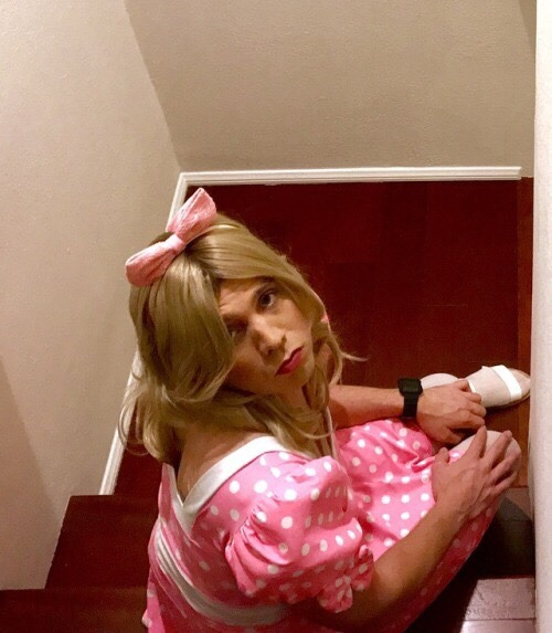Pouty little girly Sissy marky