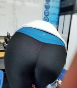 Coworker's Visible Thong Line Showing in Yoga Pants