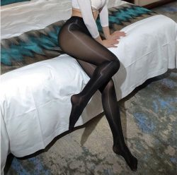 Sleek Black Pantyhose Princess