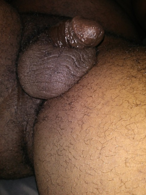 Lil black dick busting out
