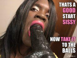 Good sissies take it balls deep 💋💁🏿🙌🏿❤️