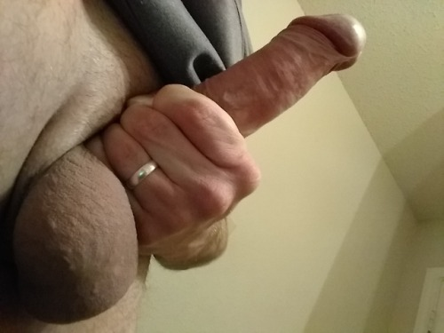 Gripping as low as possible but it's still just a small cock