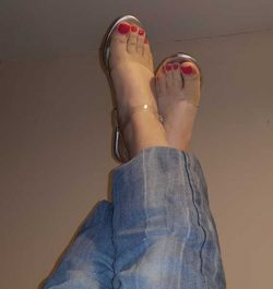 pleaser heels and jeans