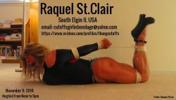 Tanned Blonde Raquel St.Clair Hogtied