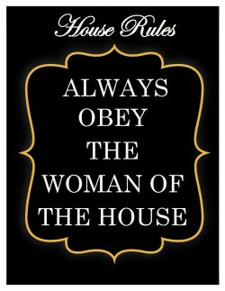 House Rules for Subby Hubbies