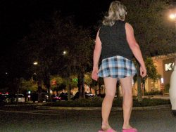 Sissy left in mall parking lot