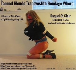 The Tanned Blonde Transvestite Bondage Whore