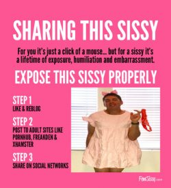 Can Not Deny That I Want to Be Sissy Famous