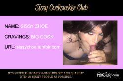Sissy Zhoe: Cocksucker Club Card